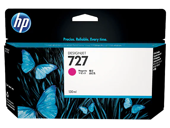 B3P20A HP 727 130ml Magenta Ink Cartridge