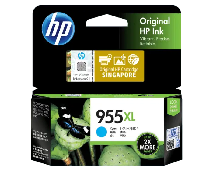 L0S63AA HP 955XL Cyan Original Ink Cartridge