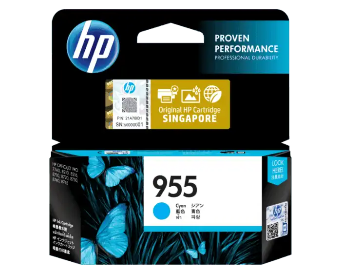 L0S51AA HP 955 Cyan Original Ink Cartridge