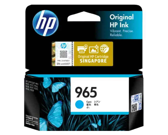 3JA77AA HP 965 Cyan Original Ink Cartridge