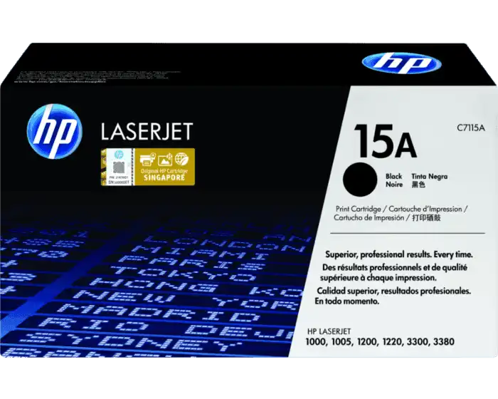 C7115A HP 15A Toner Cartridge LJ 1200 Printer Series