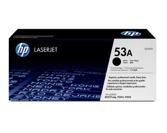 Q7553A HP 53A LaserJet P2015 Black Cartridge