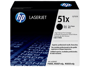 Q7551X HP 51X LaserJet P3005/M3035 mfp Black Cartridge