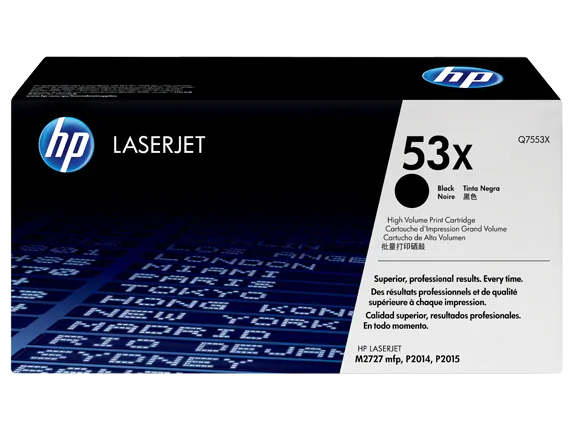 Q7553X HP 53X LaserJet P2015 Black Cartridge