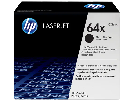 CC364X HP 64X LaserJet P4015 Series Black Print Cartridges