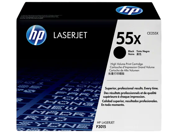 CE255X HP 55X LaserJest P3015 Print Cartridge