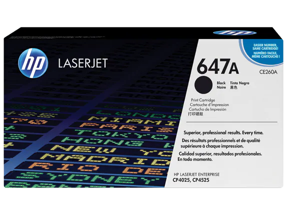 CE260A HP 647A LaserJet CP4025/4525 Black Cartridge