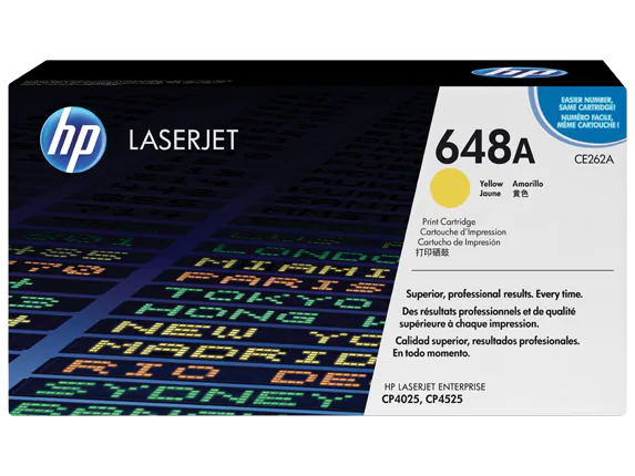 CE262A HP 648A LaserJet CP4025/4525 Yellow Print Cartridge