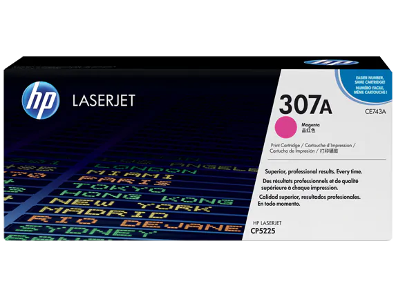 CE743A HP 307A Color LaserJet CP5225 Magenta Cartridge