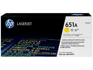 CE342A HP 651A LaserJet 700 Color MFP 775 Yellow Cartridge