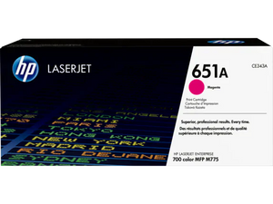 CE343A HP 651A LaserJet 700 Color MFP 775 Magenta Cartridge