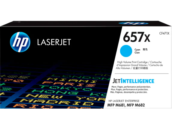 CF471X HP 657X Cyan Original LaserJet Toner Cartridge