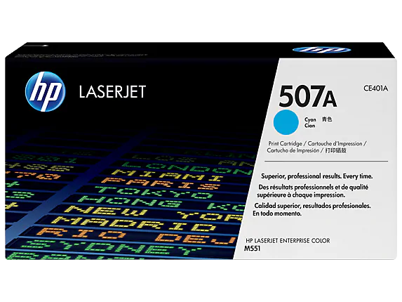 CE401A HP 507A Cyan LaserJet Toner Cartridge