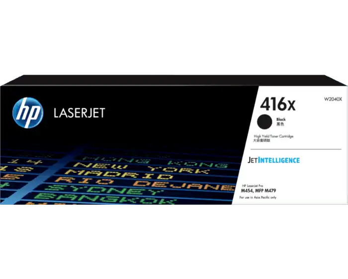 W2040X HP 416X Black LaserJet Toner Cartridge