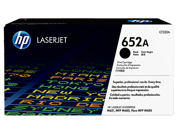CF320A HP 652A Black LaserJet Toner Cartridge