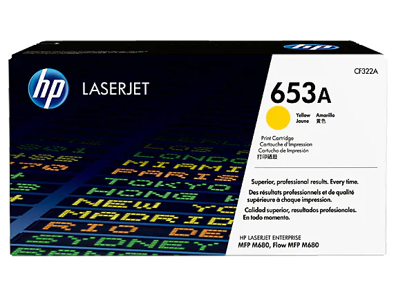 CF322A HP 653A Yellow LaserJet Toner Cartridge