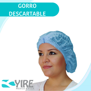 GORRO DESECHABLE COLOR CELESTE