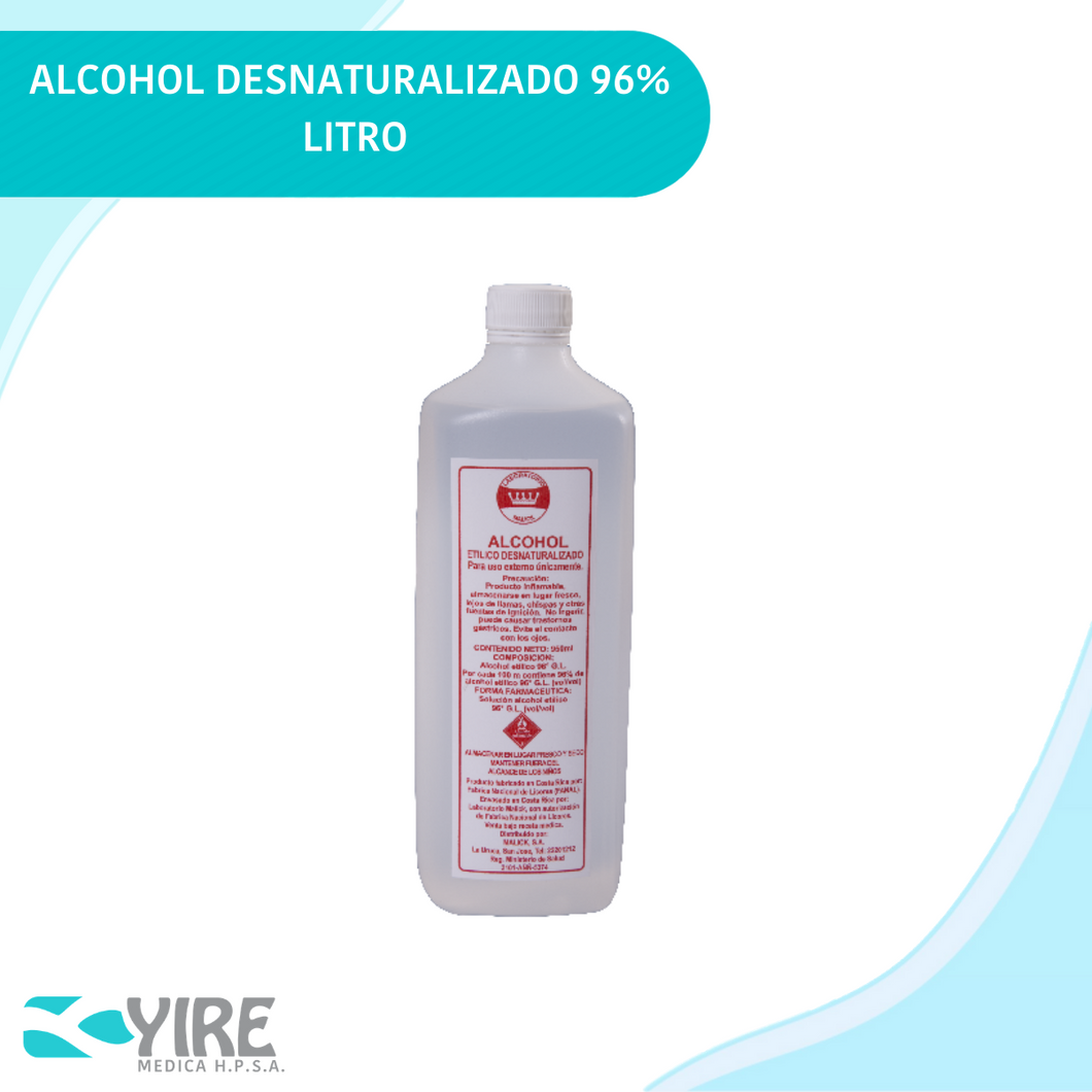 ALCOHOL DESNATURALIZADO AL 96% DE1000ML