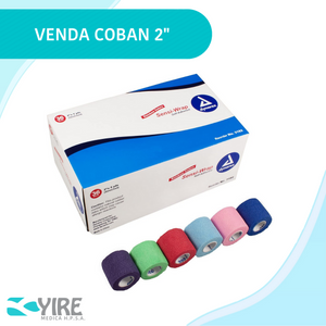 "VENDA COHESIVA 2"" MULTICOLORES"