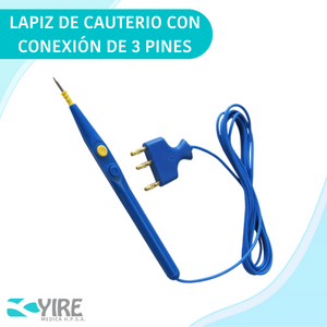 LAPIZ PARA CAUTERIO DE 3 PINES 70MM