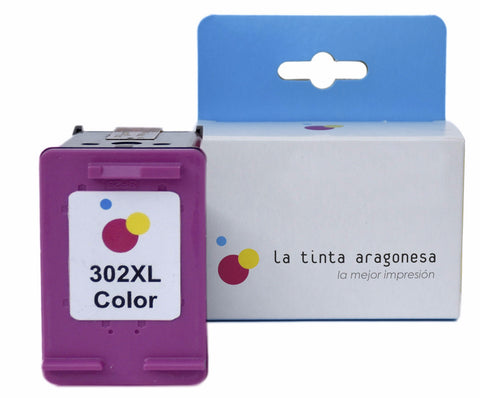 Cartucho compatible HP 302 XL color
