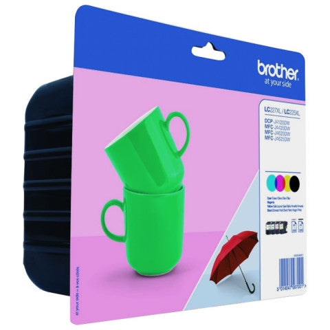 Pack ahorro de tinta original Brother LC227/LC225 4 colores