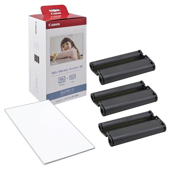 Pack tinta + papel para canon selphy