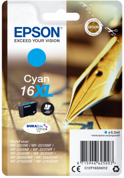 Cartucho original Epson 16XL cian