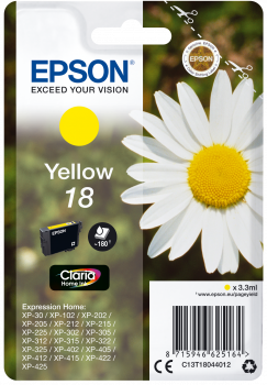 Cartucho original Epson 18 amarillo
