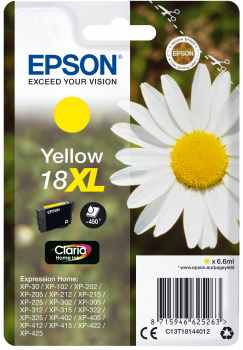Cartucho original Epson 18XL amarillo