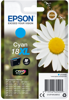 Cartucho original Epson 18XL cian