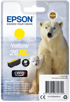 Cartucho original Epson 26XL amarillo