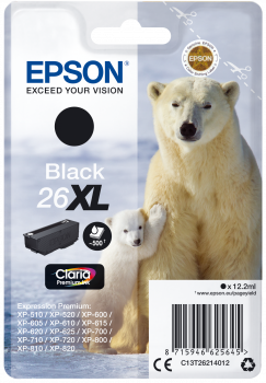 Cartucho original Epson 26XL negro