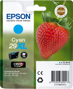 Cartucho original Epson 29XL cian