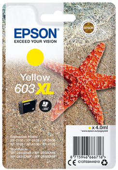 Cartucho original Epson 603XL amarillo