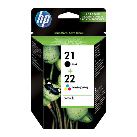 Pack de cartuchos HP 21 y 22