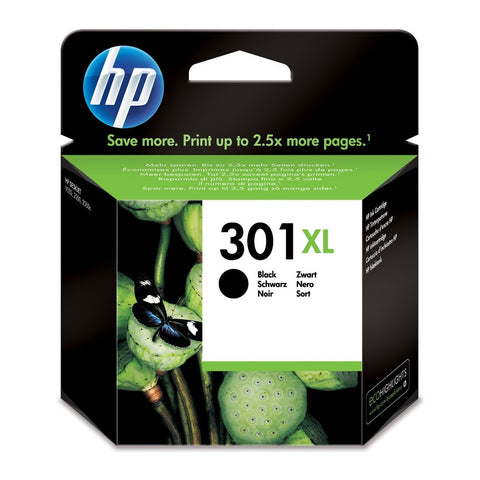 Cartucho de tinta original HP 301XL negro
