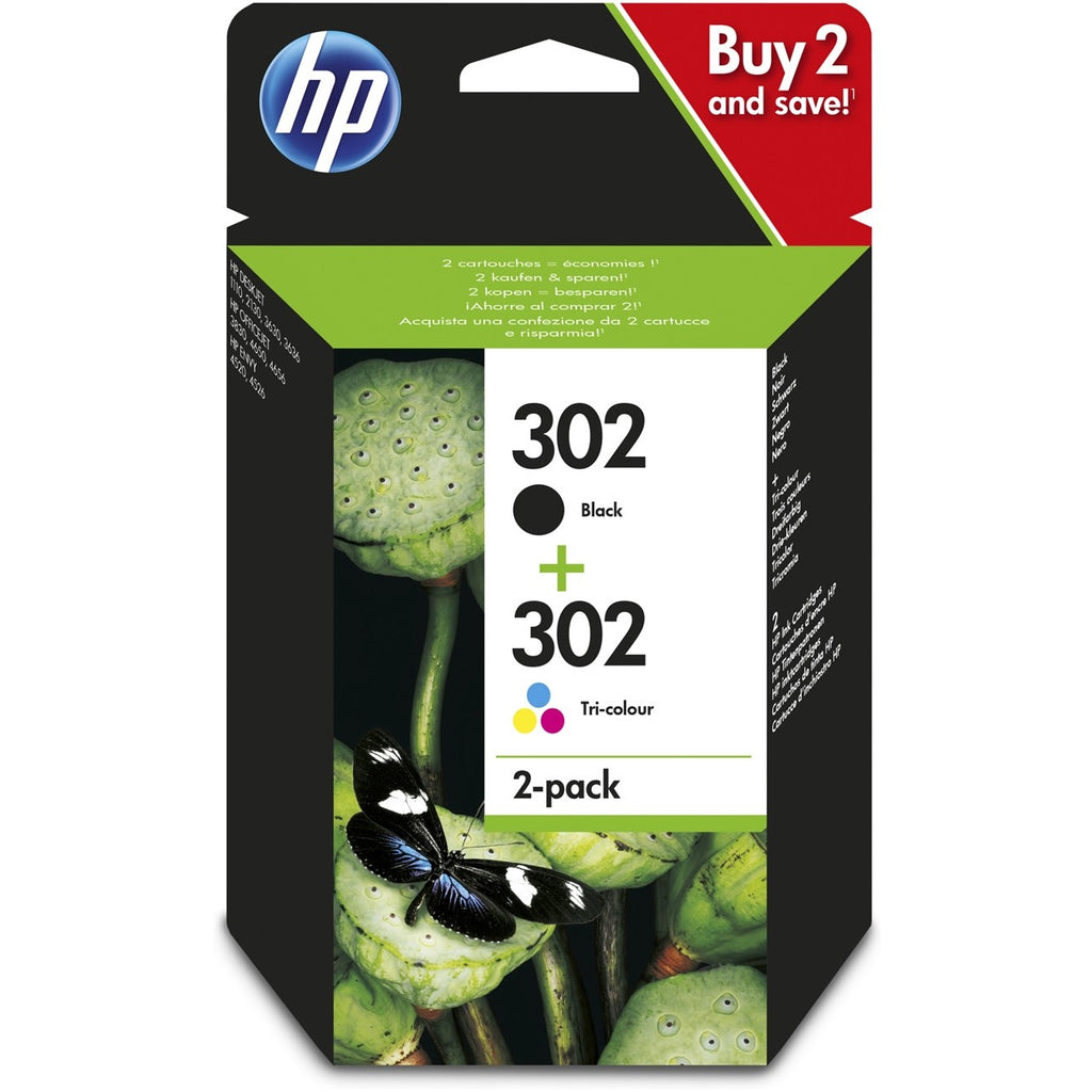 Pack de cartuchos de tinta originales HP 302