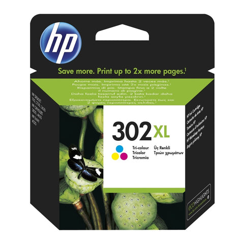 Cartucho de tinta original HP 302XL tricolor de alta capacidad