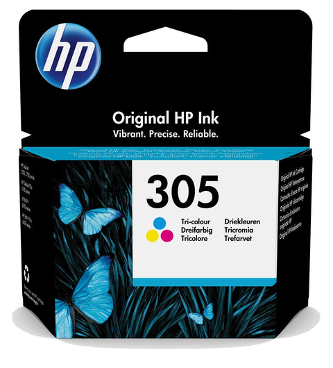 Cartucho de tinta original HP 305 tricolor