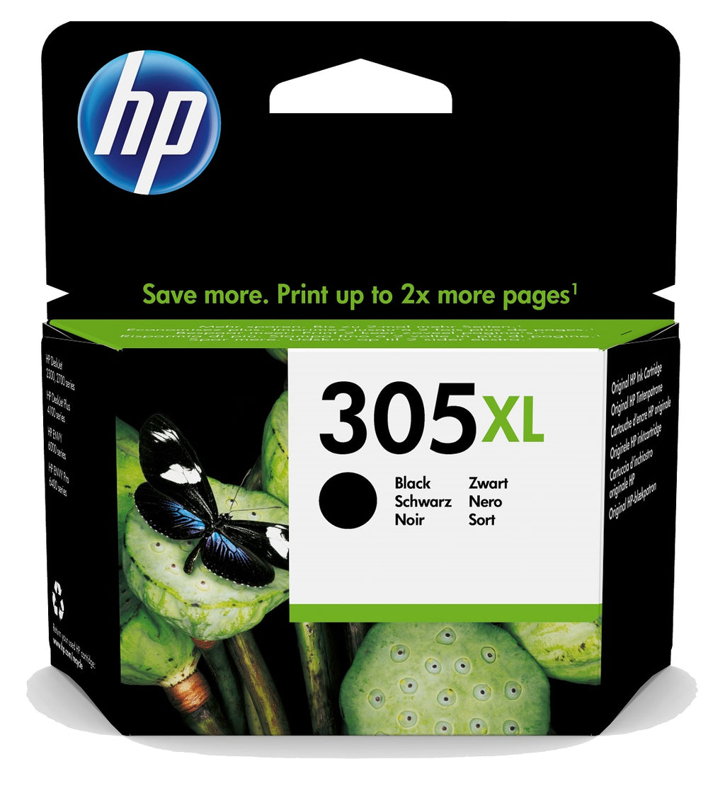 Cartucho de tinta original HP 305XL negro