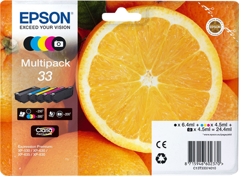 Multipack de tinta original Epson 33 5 colores