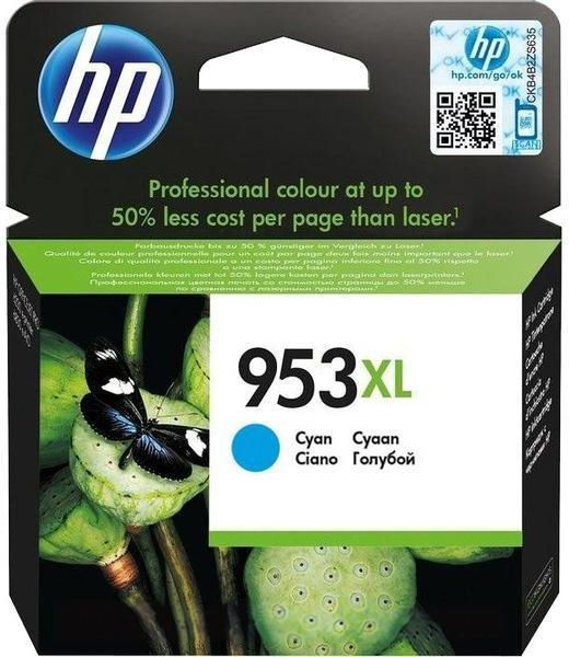 Cartucho original HP 953XL cian