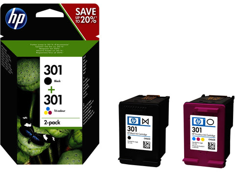 Pack cartuchos HP 301 originales