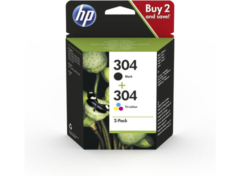 Pack de cartuchos originales HP 304