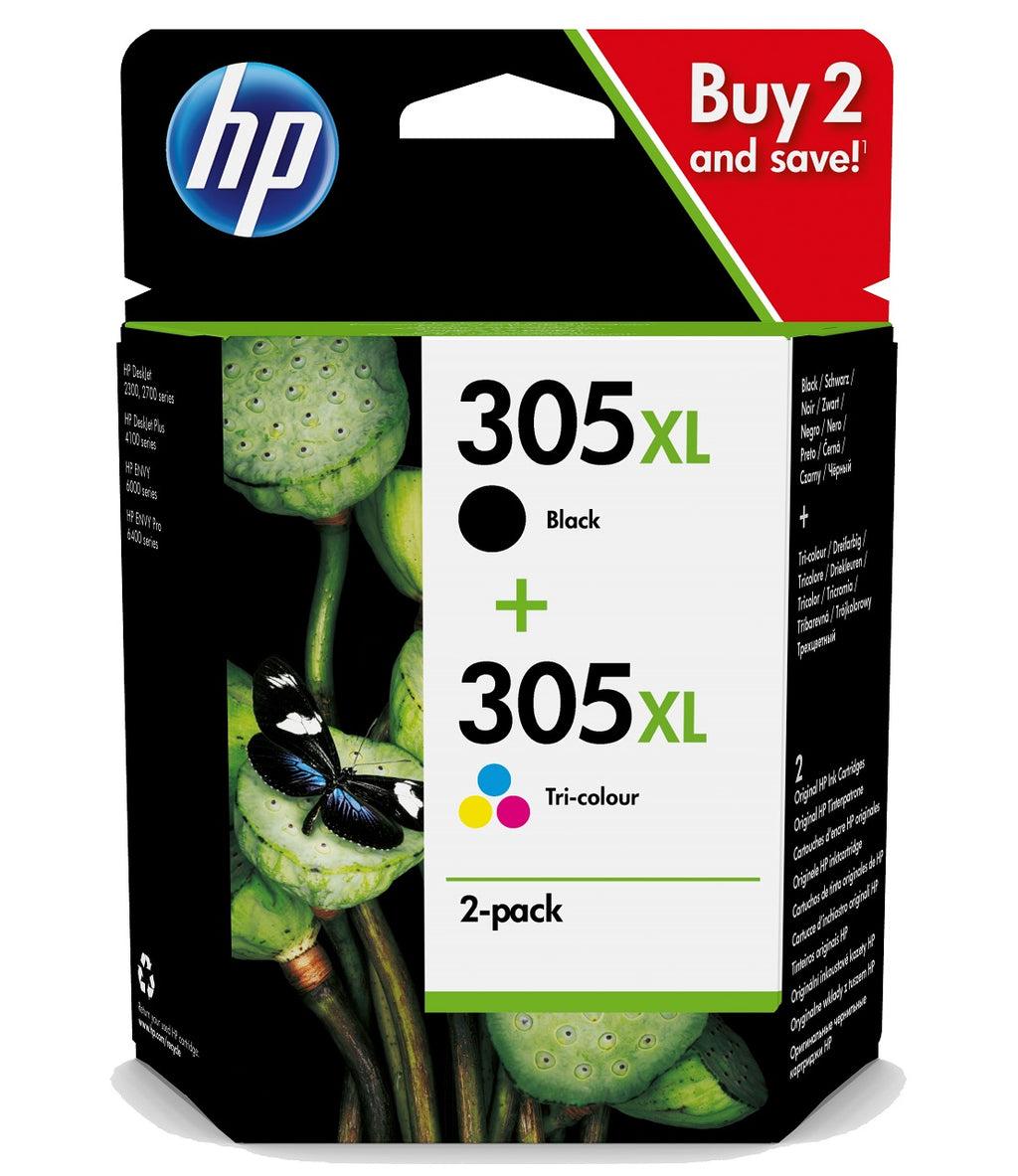pack de cartuchos hp 305XL