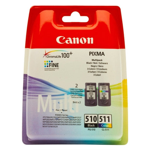 Multipack Canon PG-510 Negro + CL-511 Color