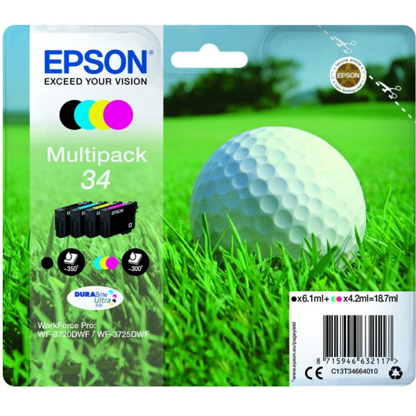 Multipack de tinta original Epson 34 4 colores