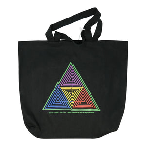 Spiral Triangle Tote bag
