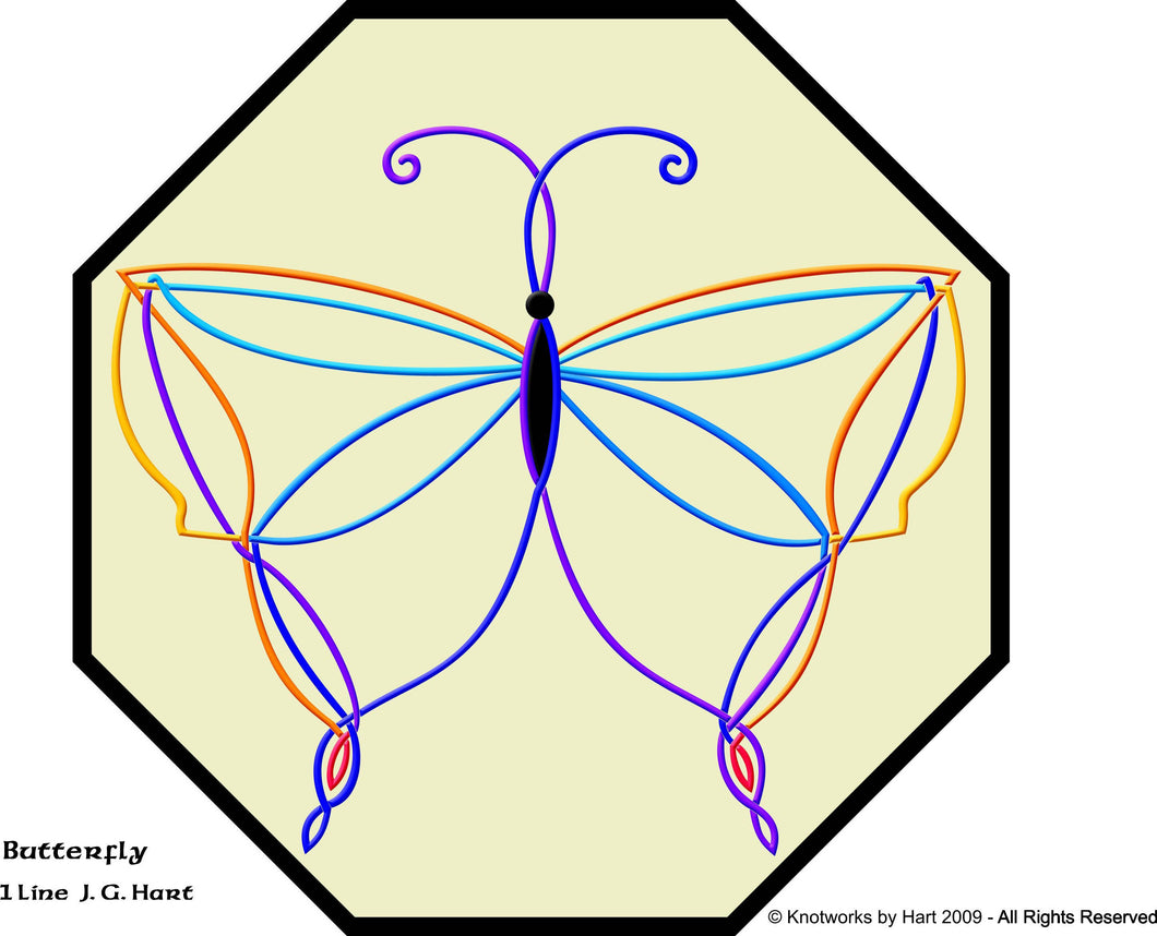 Knotwork Buterfly - Print